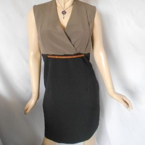 Nwt +$79 VOIR VOIR Career Dress With Waist Belt 10